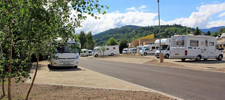 Camper van service station Alsace in the Munster Valley